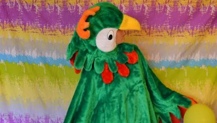 Mascot: Costume of a Green Parrot