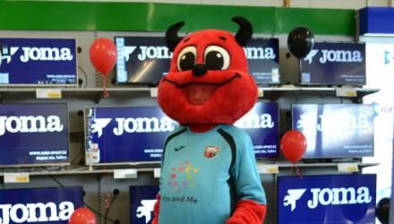 FC Infonet's (Tallinn) mascot: Devil costume
