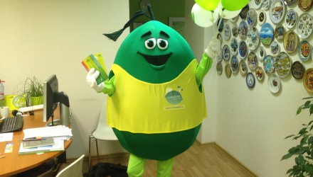 Laimture's mascot: Lime costume