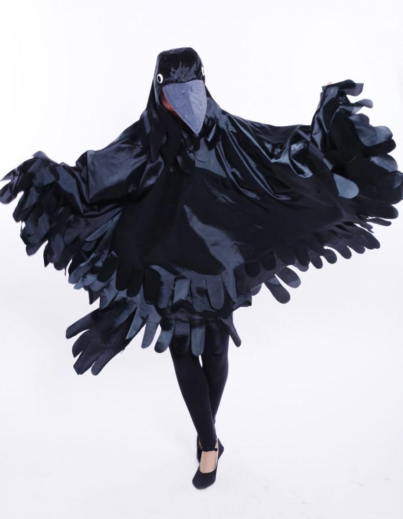 Mascot: Costume of a raven
