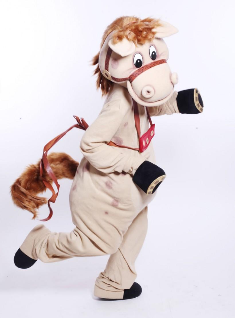 Mascot: Costume of a horse