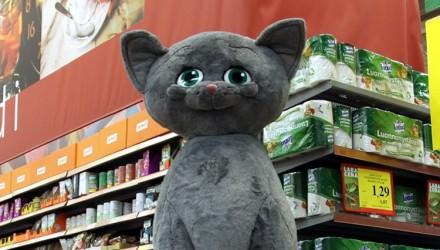 Stationary promo mascot: Whiskas cat