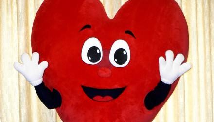 Mascot: Large plush heart