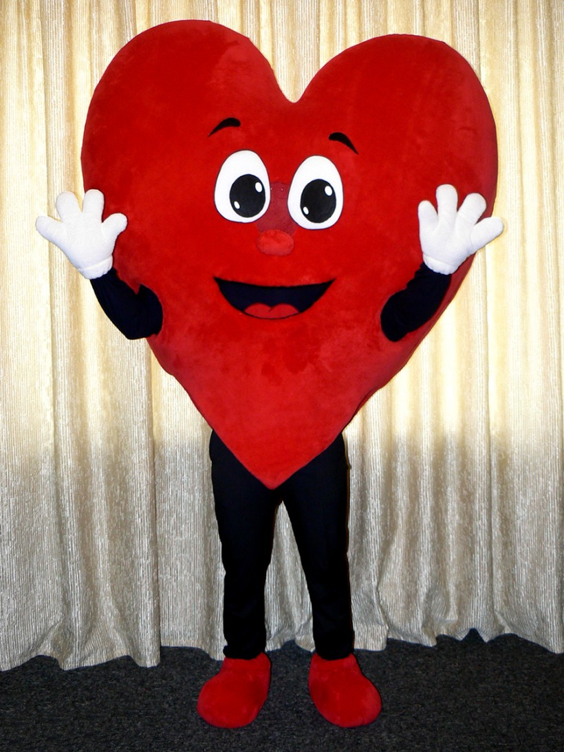 Mascot: Large plush heart