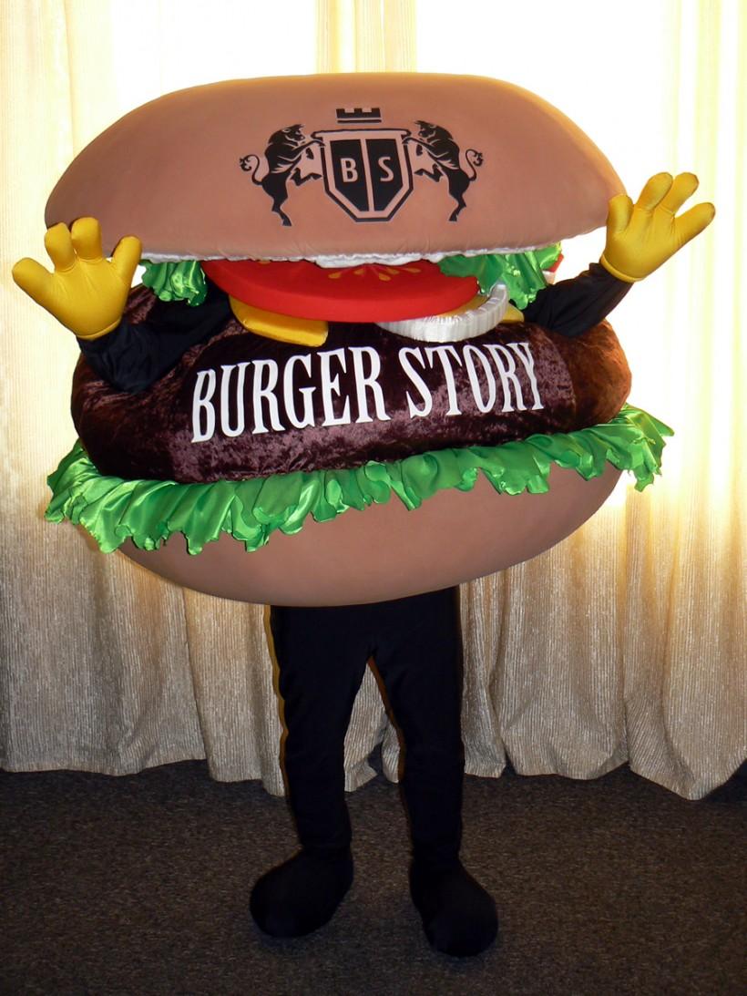 Талисман Burger Story: Ростовая кукла Гамбургер