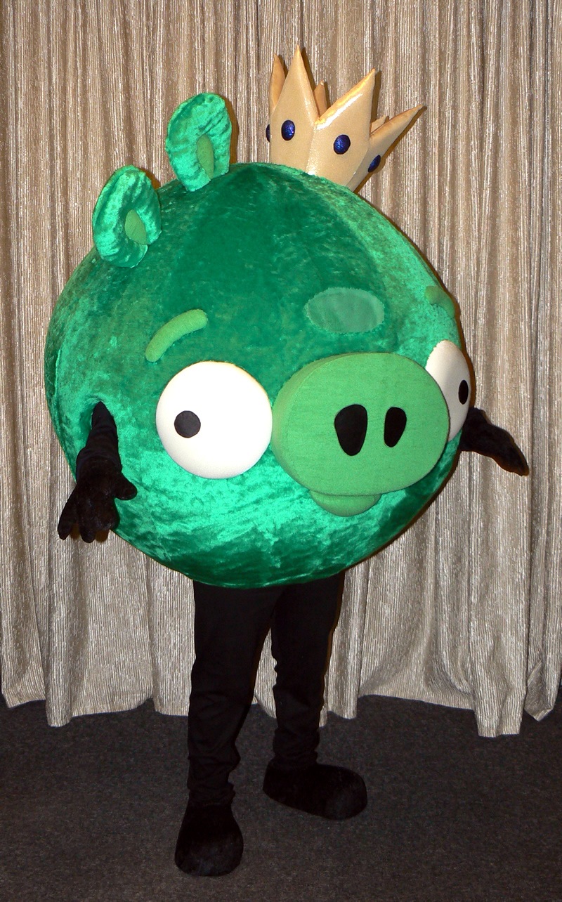 Angry Birds mascot: King Pig costume