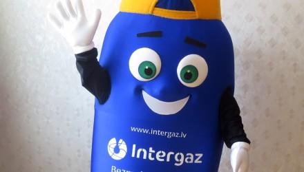 Intergaz's mascot: Gas cylinder costume