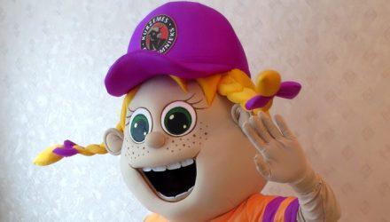 Bosix' mascot: girl costume