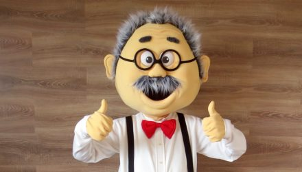 LU sport mascot: professor costume