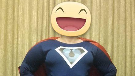 Intergaz's mascot: Superhero costume