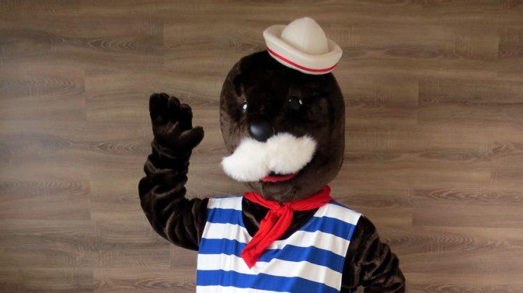 The Freeport of Riga mascot: seal costume