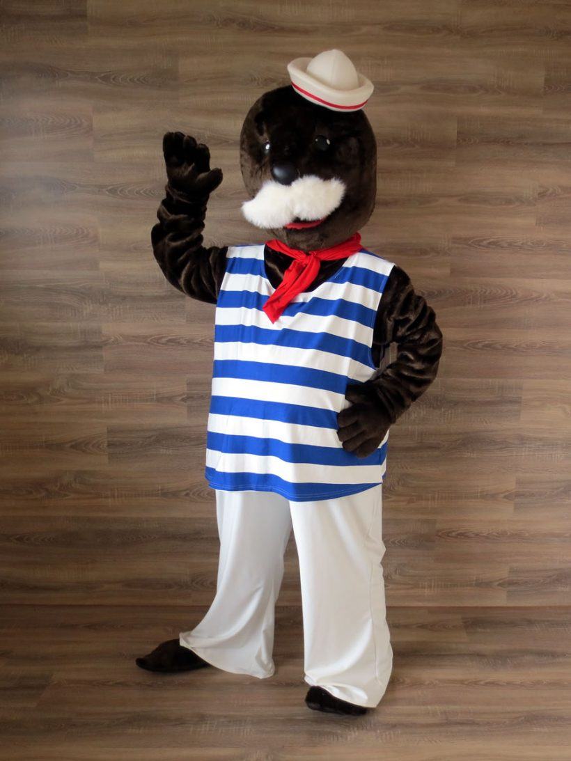 The Freeport of Riga mascot: seal costume