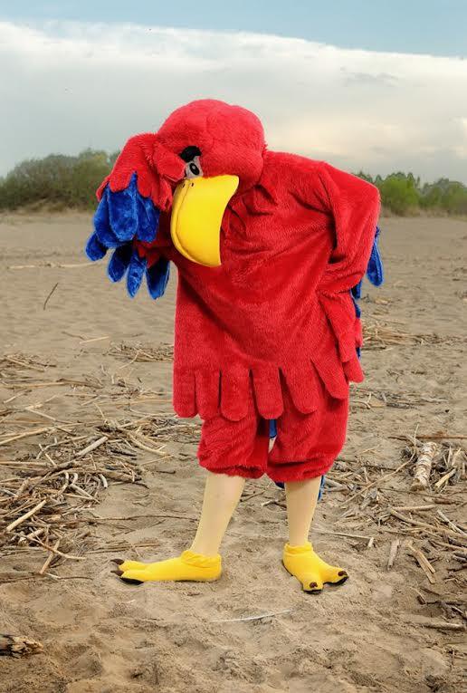 Ростовая кукла: Костюм красного попугая