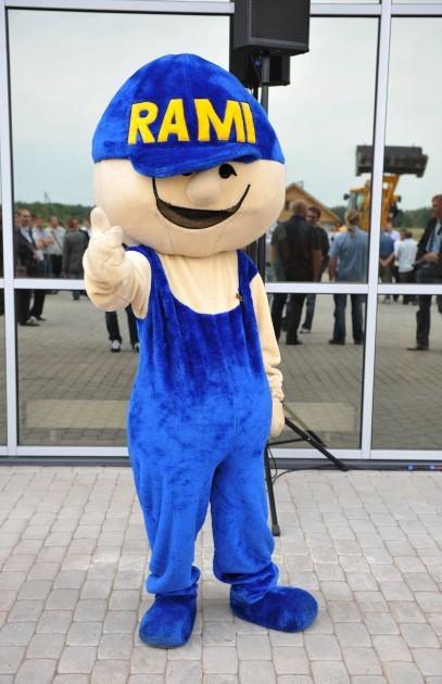Ramirent's mascot: Rami costume
