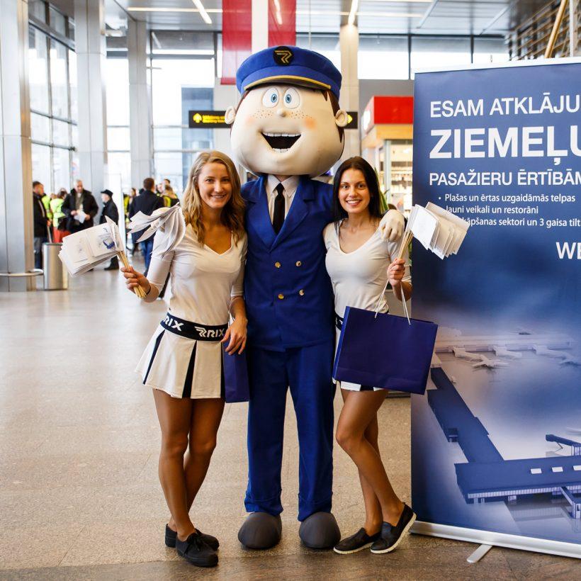 Талисман аэропорта Рига: ростовая кукла пилота